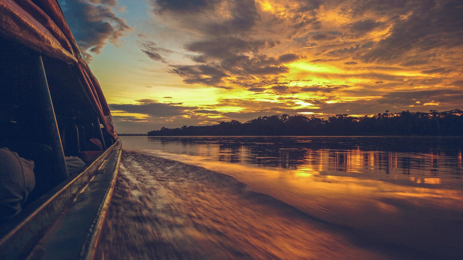 Sunrise on the Amazon River