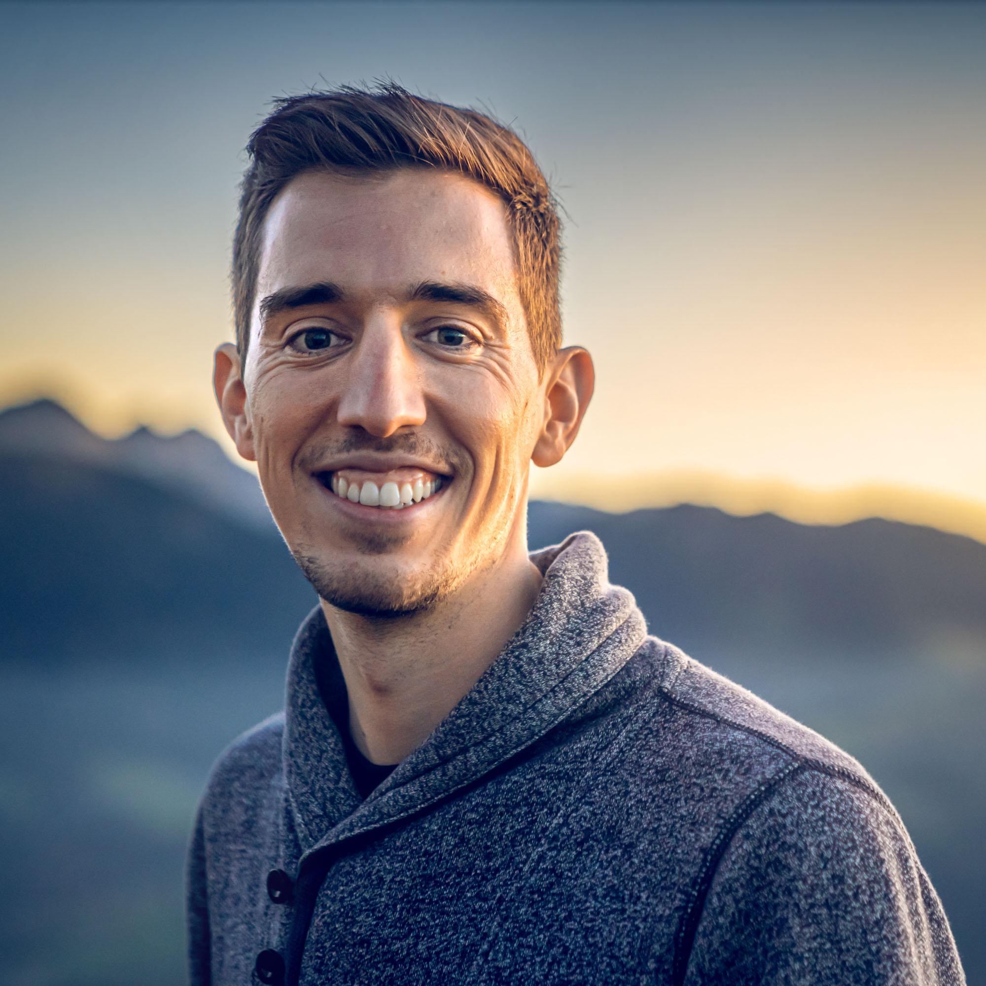 Sebastian Klinger Cinematographer during sunset in mountains